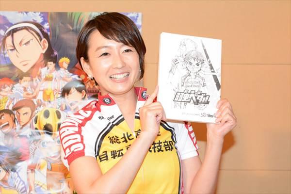 「劇場版 弱虫メダル」で声優に挑戦した女子アナ東狩野の総北高校自転車競技部のユニフォームのコスプレ画像
