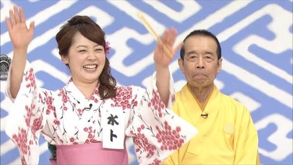 女子アナ笹崎里菜、尾崎里紗、水卜麻美が浴衣姿で笑点に出演した画像