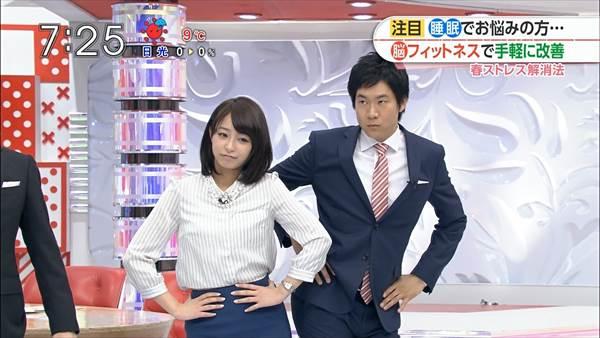 宇垣美里アナのタイトスカートからエロい太もも生足画像