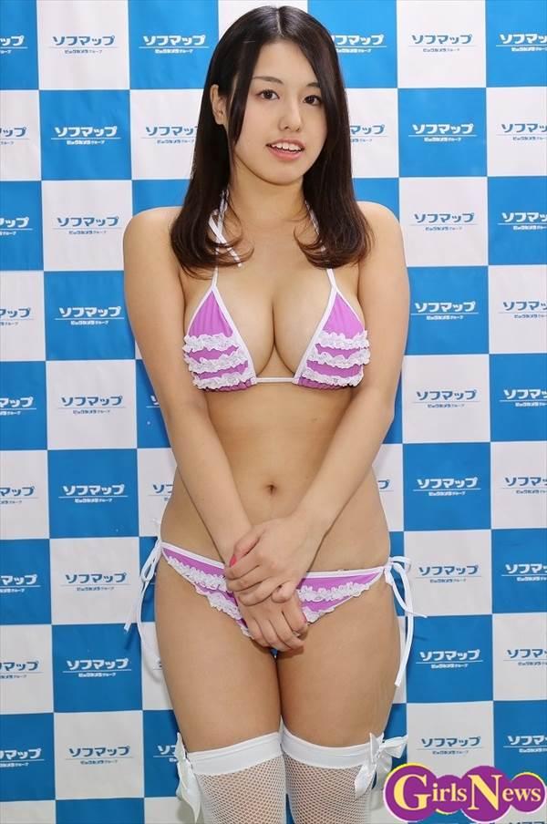 Gカップ女子大生グラドル大山ひかりのビキニ水着画像、DVD「ひかりパイ」発売